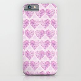 Pink Crystal Hearts iPhone Case