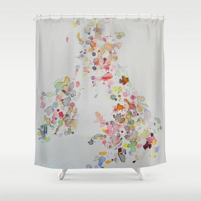UK & Ireland Shower Curtain