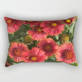 Coral Flowers Rectangular Pillow