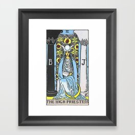 High Priestess Tarot Framed Art Print