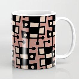 Mid Century Modern Abstract 212 Brown and Beige Coffee Mug