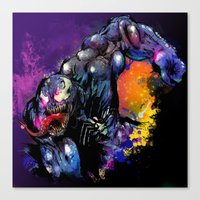 venom Canvas Prints featuring Venom by Vincent Vernacatola