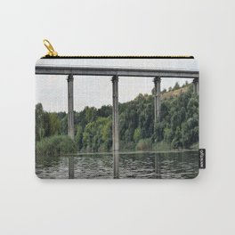Reflection of a bridge in a river Carry-All Pouch
