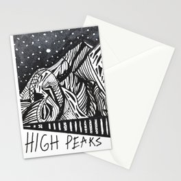 """High Peaks"" Hand-Drawn Adirondacks by Dark Mountain Arts Stationery Cards"
