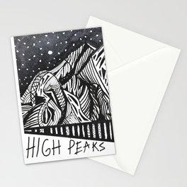 """High Peaks"" Hand-Drawn Adirondacks by Dark Mountain Arts Stationery Cards"
