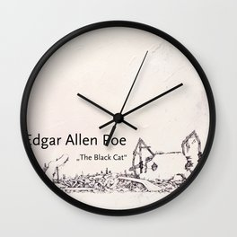 Edgar Allen Poe Wall Clock
