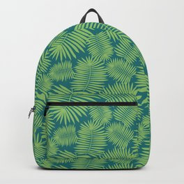 Palm Leaves Delight   turquoise & green   Backpack