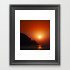 Sunset at the sea Framed Art Print