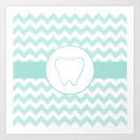 Chevron Tooth Art Print