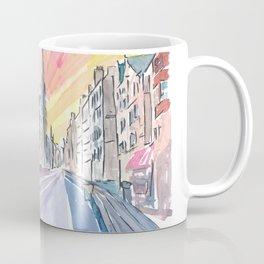 Edinburgh Scotland Street Scene with Church Coffee Mug