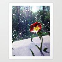 mockingjay Art Prints featuring Mockingjay by Tori Poole