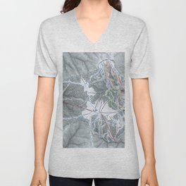 Bogus Basin  Resort Trail Map Unisex V-Neck