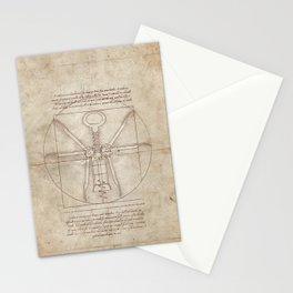 Da Vinci's Real Screw Invention Stationery Cards