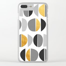 Abstract Golden Art XVII Clear iPhone Case