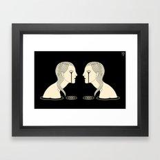 Girl in Tears Framed Art Print