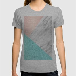 Real Italian Marble with Pink and Blue T-shirt