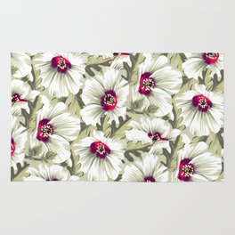 New Zealand Hibiscus Floral Print (Day) Rug