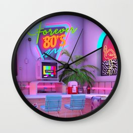 Forever 80's Wall Clock