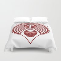 legend of korra Duvet Covers featuring Legend of Korra- Amon - Fight for Equality by TerraBlack