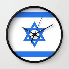 Israel Flag Wall Clock