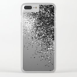 Sparkling Silver Gray Lady Glitter #1 #shiny #decor #art #society6 Clear iPhone Case