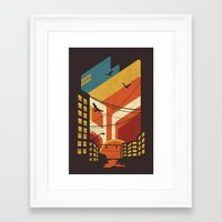 street Framed Art Prints featuring Street by The Child