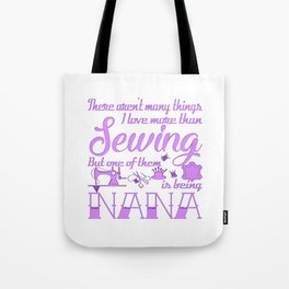 Sewing Nana Tote Bag