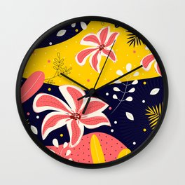 Colorful Flower Life I Wall Clock