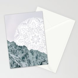 Ice Tipped Mountains Stationery Cards