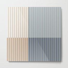 Color Block Line Abstract XVII Metal Print