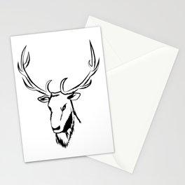 Ciervo negro Stationery Cards