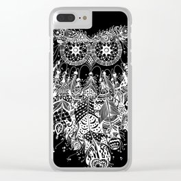 Dream Catcher on Black Clear iPhone Case