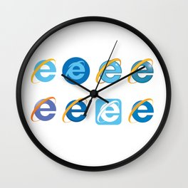 The Age Of The Internet Wall Clock