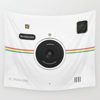 vintage camera Wall Tapestries featuring Camera  by alifart
