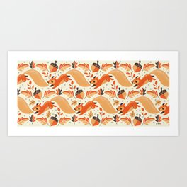 Adorably Squirrely Art Print