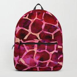 Red Giraffe Print Backpack