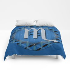 Flower of Life SCORPIO Astrology Design Comforters