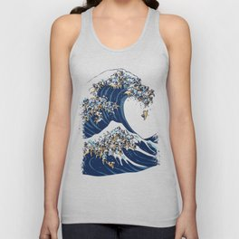 The Great Wave of Pug Unisex Tank Top