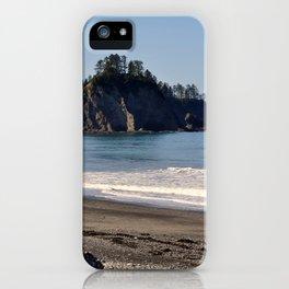 James Island from Rialto Beach La Push, Washington iPhone Case