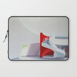 spiral on red Laptop Sleeve
