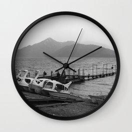 Nikko mountain lake 001 Wall Clock