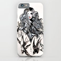Woman & birds iPhone 6s Slim Case