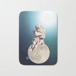 Child Angel Cherub Playing a Lyre on Moon A259 Bath Mat