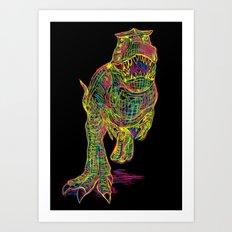 Technicolor Rex Art Print