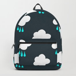 Rain Cloud Pattern Backpack