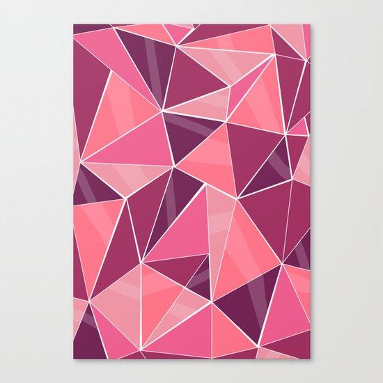 Pattern, pink Canvas Print