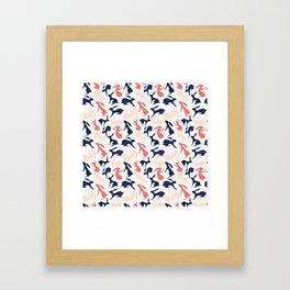 Abstract Rabbits Pattern Framed Art Print
