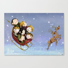 Little Hiddles Christmas Time Canvas Print