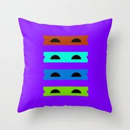 Teenage Minimal Ninja Turtles Throw Pillow