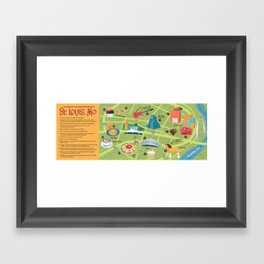 Illustrated Map of St. Louis Framed Art Print